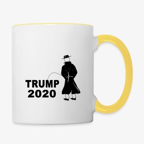 Pissing Man against Trump 2020 - Tasse zweifarbig