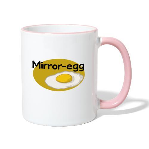 Mirror-egg - Tasse zweifarbig