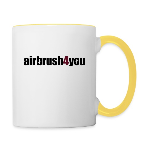 Airbrush 4 You - Tasse zweifarbig