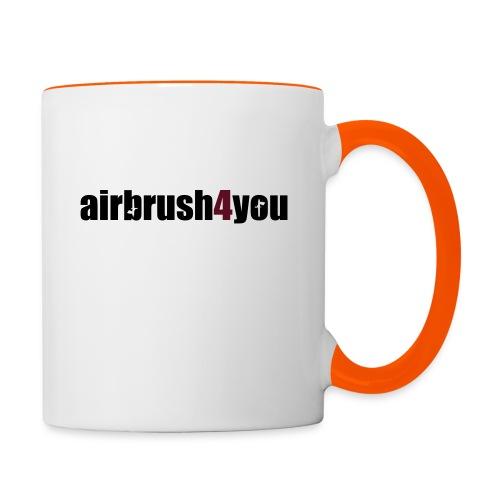 Airbrush 4 You - Tasse zweifarbig