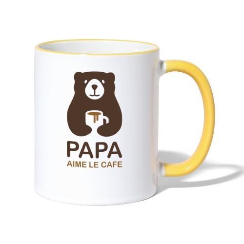 Papa aime le café - Mug contrasté