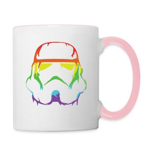 Pride Trooper - simple - Kaksivärinen muki