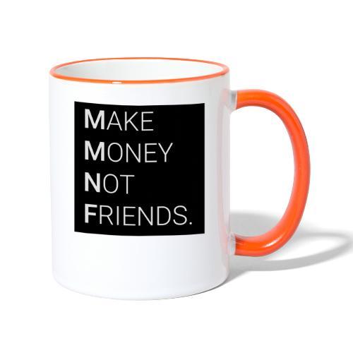 Creando Dinero sin amigos - Taza en dos colores