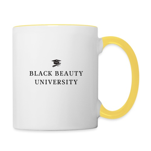 BLACK BEAUTY UNIVERSITY LOGO BLACK - Mug contrasté