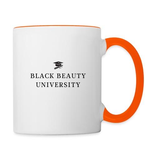 BLACK BEAUTY UNIVERSITY LOGO BLACK - Mug contrasté