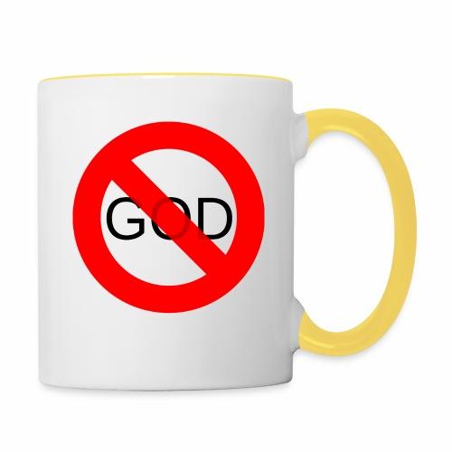 Znak zakazu - No God - Kubek dwukolorowy