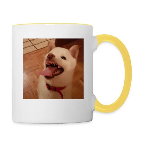 Mein Hund xD - Tasse zweifarbig