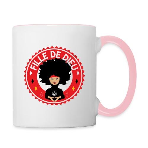 fille de Dieu rouge - Mug contrasté