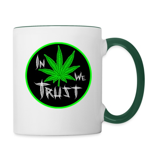 In weed we trust - Taza en dos colores