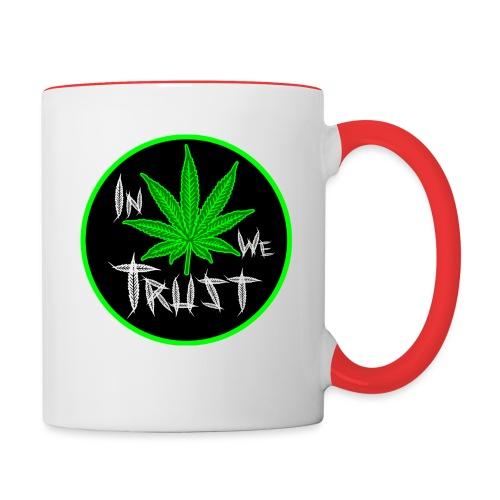 In weed we trust - Taza en dos colores