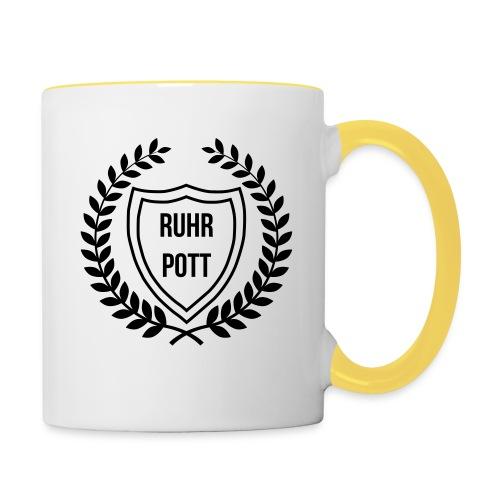 RUHRPOTT LOGO - Tasse zweifarbig