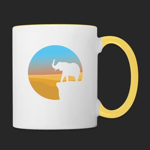 Sunset Elephant - Contrasting Mug