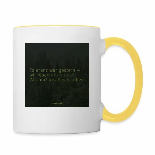 #weilbaum-T-Shirt Akzeptanz - Tasse zweifarbig