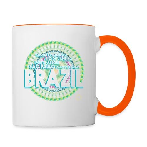 Lemon Brazil Mandala - Mug contrasté