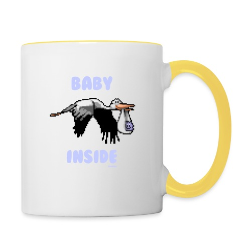 Babyinside - Boy - Tasse zweifarbig