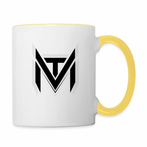 MadVexTV Logo Schwarz - Tasse zweifarbig