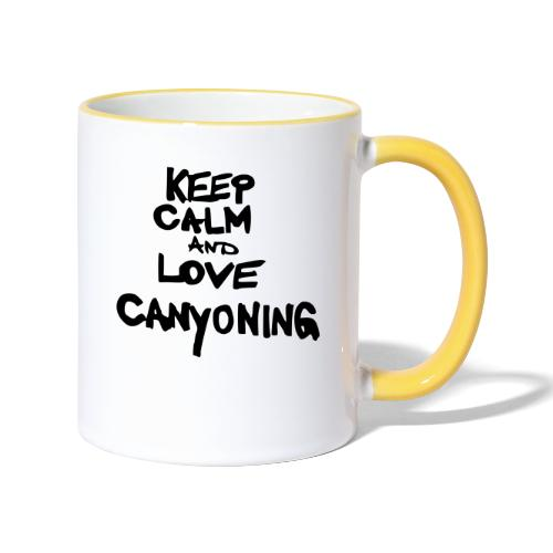 keep calm and love canyoning - Tasse zweifarbig