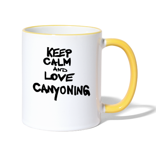 keep calm and love canyoning - Tasse zweifarbig