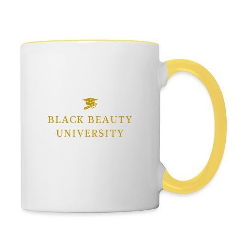 BLACK BEAUTY UNIVERSITY LOGO GOLD - Mug contrasté