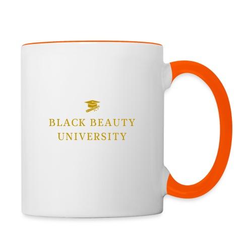 BLACK BEAUTY UNIVERSITY LOGO GOLD - Mug contrasté