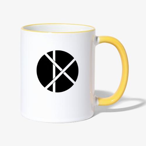 Don Logo - musta - Kaksivärinen muki