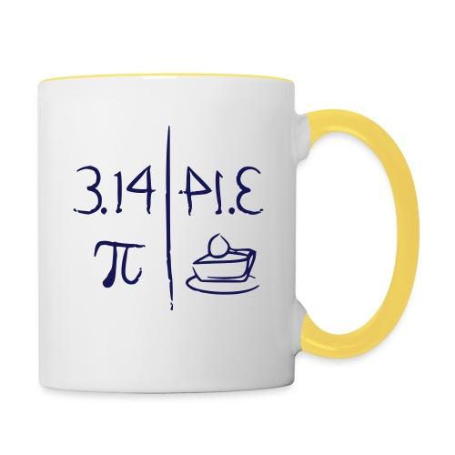 pi vs pie - Contrasting Mug