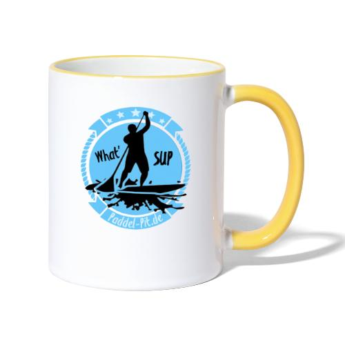 What`SUP. SUP Board Stand Up Paddling Sport - Tasse zweifarbig