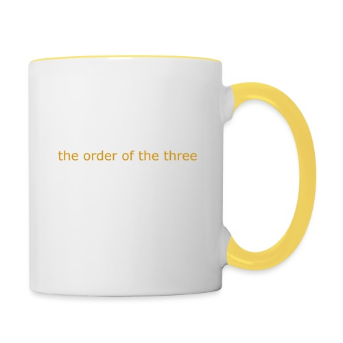 the order of the three 1st shirt - Contrasting Mug