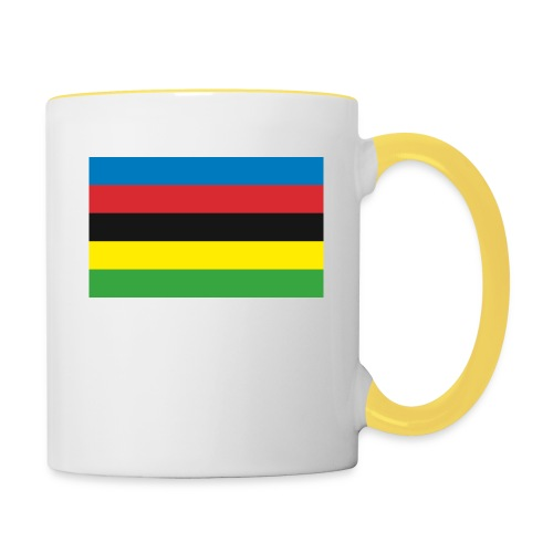Cycling_World_Champion_Rainbow_Stripes-png - Mok tweekleurig