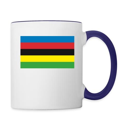 Cycling_World_Champion_Rainbow_Stripes-png - Mok tweekleurig