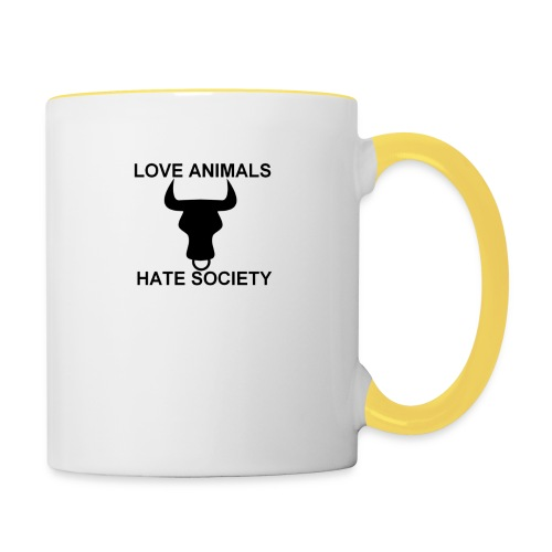 LOGO LOVE ANIMALS HATE SOCIETY - Mug contrasté
