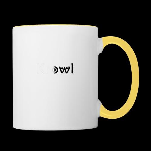 Krowl 1st Yin & Yang Design - Mug contrasté