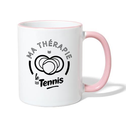 Ma therapie le tennis - Mug contrasté