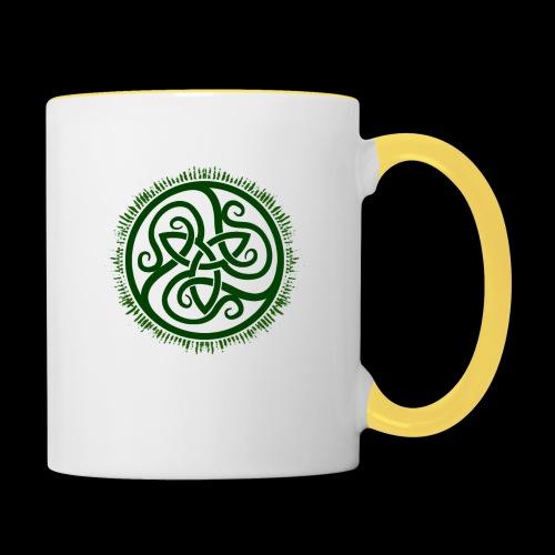 Green Celtic Triknot - Contrasting Mug