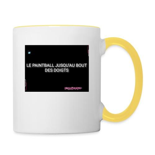 Le paintball jusqu'au bout des doigts - Mug contrasté
