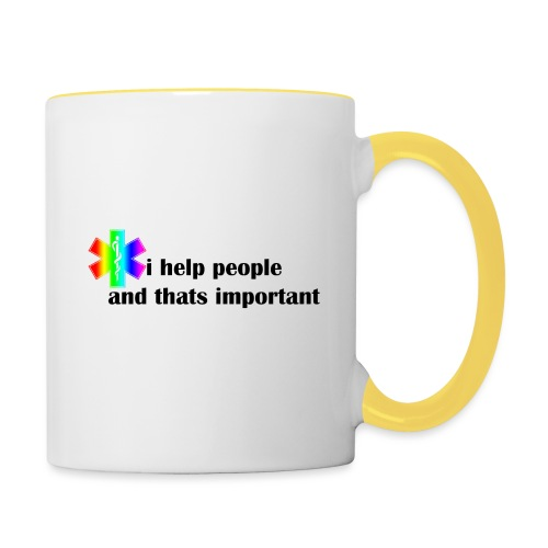 i help people - Mok tweekleurig