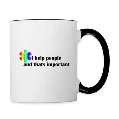 i help people - Mok tweekleurig