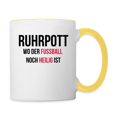 RUHRPOTT - Wo der Fussball noch heilig ist - Tasse zweifarbig