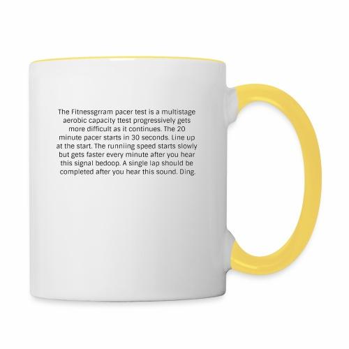 FitnessGram pacer Test - Contrasting Mug