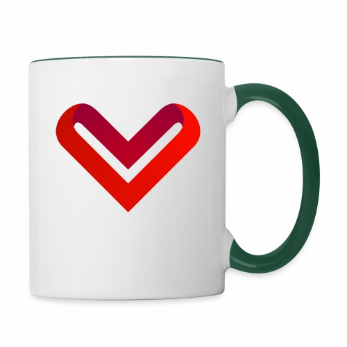 Coeur de V - Mug contrasté