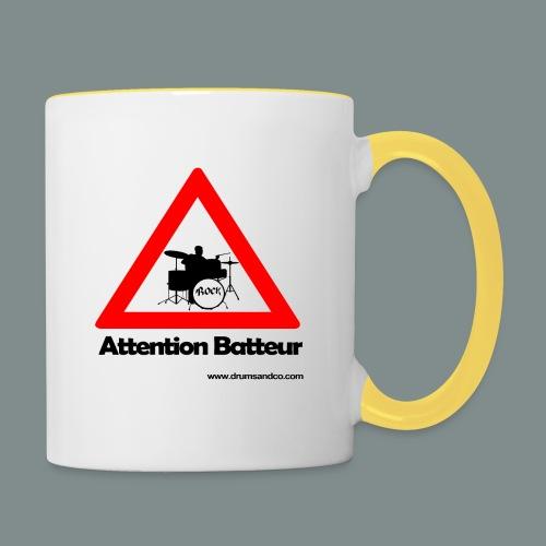 Attention batteur - Mug contrasté