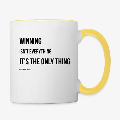 Football Victory Quotation - Contrasting Mug