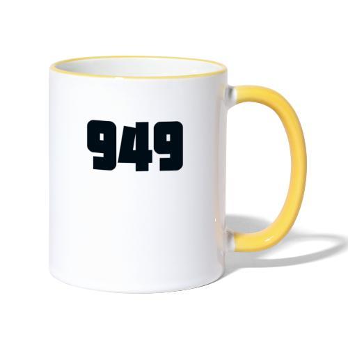 949black - Tasse zweifarbig