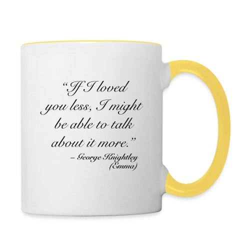 Knightley quote - TAE - Tvåfärgad mugg