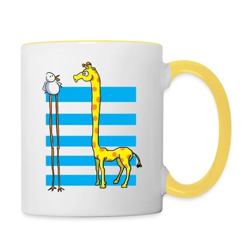 La girafe et l'échassier - Mug contrasté