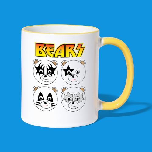 Kiss Bears square.png - Contrasting Mug