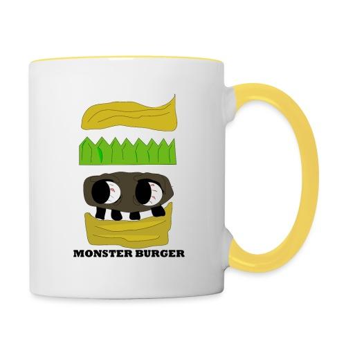MONSTER BURGER - Tasse zweifarbig
