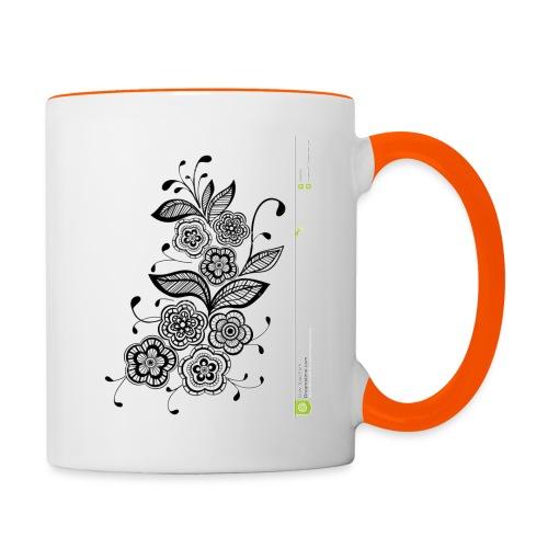 diseño de flores - Taza en dos colores