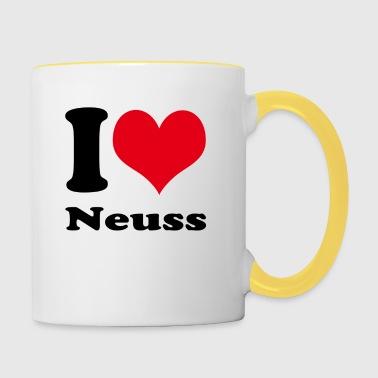 Ik houd van Neuss - Mok tweekleurig