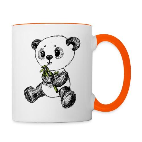 Panda Karhu värillinen scribblesirii - Kaksivärinen muki